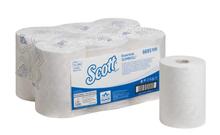 Полотенца для рук в рулонах Scott, 1-сл, 350м, белый, 6рул/упак