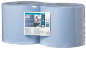 Материал протирочный бумажный Tork Advanced W1/W2,2-сл,24*255,750л, голубой, 2 рул/упак