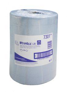 Материал протирочный бумажный Wypall L30, 2-сл, 38*33см, 500л, голубой