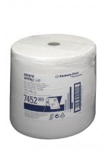 Материал протирочный бумажный Wypall L40, особопрочный, 1-сл, 34*31,5см, 750л, белый