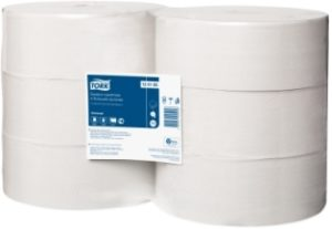 Бумага туалетная в больших рулонах Tork Universal, 1-сл, 10*525, белый, 6рул/упак